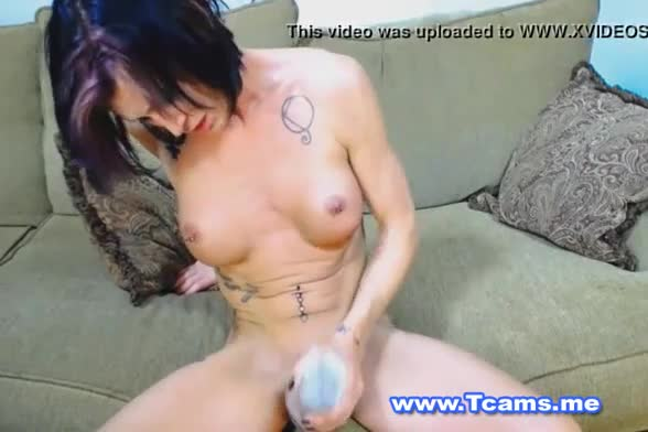 Huge wang of shemale on webcam